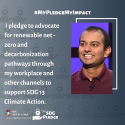 Dr. Shridhar Kaushik SDG Pledge
