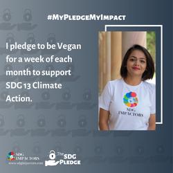 Runali Maniya SDG Pledge