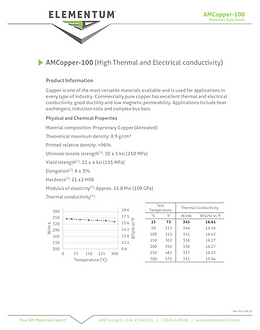 AMCopper-100 Data Sheets 2021-04-26 Pg1