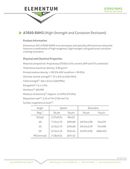 A7050-RAM2 Data Sheets 2021-04-15 Pg1 FI