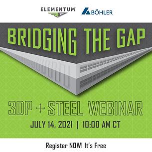 Bridging the Gap - 3DP-Steel invite 300x