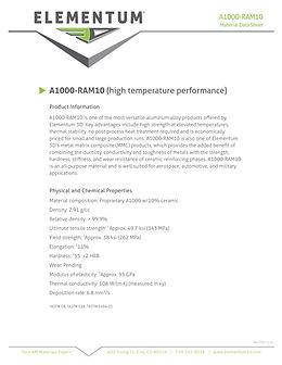A1000-RAM 10 one page Data Sheet 2020-12