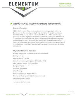 A1000-RAM 10 one page Data Sheet 2020-12