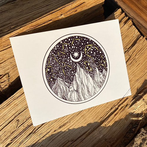She Mountain print