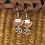 "Thumbnail: ""Leather Lotus"" earrings"