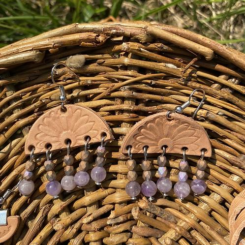 """Sunshine rain"" earrings"