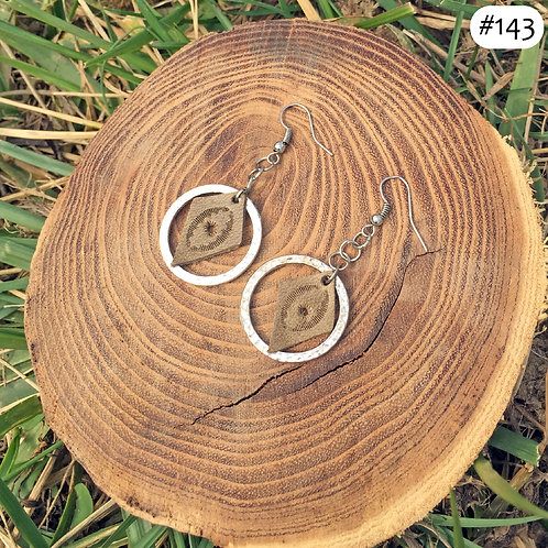leather eye hoops #143