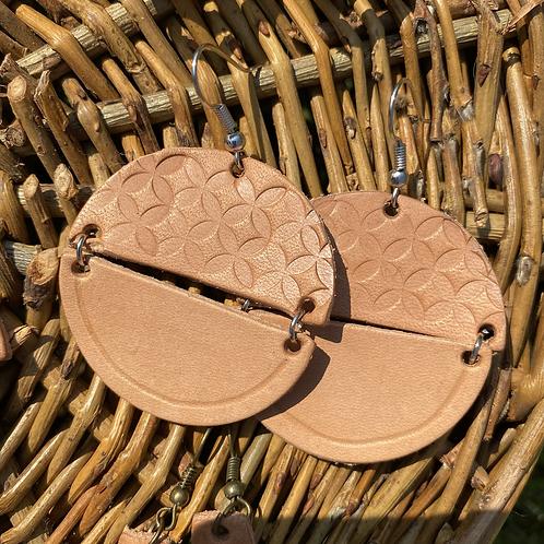"""""""Leather garden"""" earrings"""