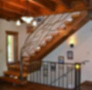 ornamental iron railing, tree railing