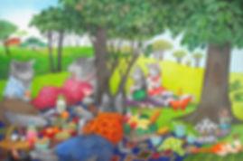 三びきの狼(夢の中でのピクニック).JPG