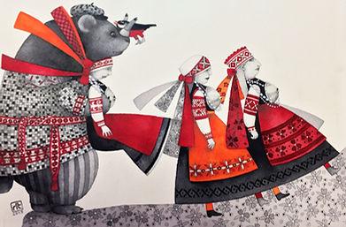 クマと三姉妹のコピー.JPG