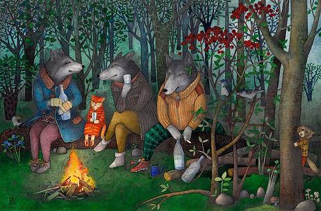 R.L.トゥーンペレ「三びきの狼(エストニアの森で).jpg
