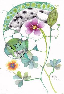花と犬とトナカイ.JPG
