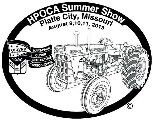 2013 HPOCA Summer Show Belt Buckle