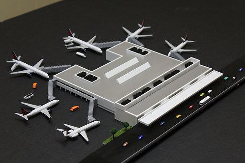 Fully Assembled 1/400  FLL Ft. Lauderdale International Model Airport Terminal