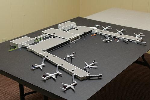 1/400 Scale Tulsa International Airport Terminal