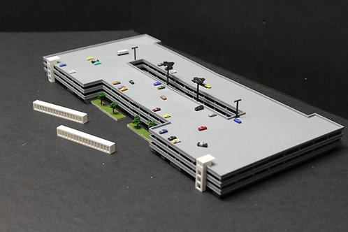 1/400 Scale Large Parking Garage With Adjustable Foot-Bridges #815