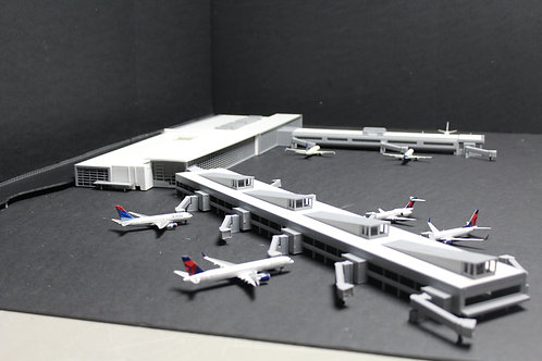 1/400 Scale KBDL Bradley International Airport Model Airport Terminal