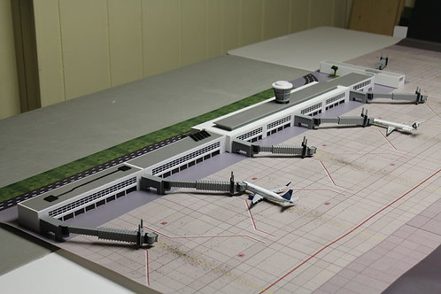 1/200 Scale Model Airport Terminal