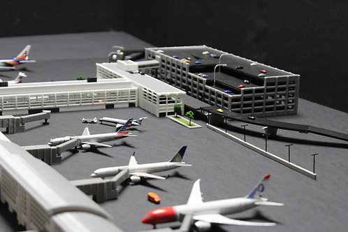 1/400 Scale Parking Garage, Terminal Entrance, and Connection Section