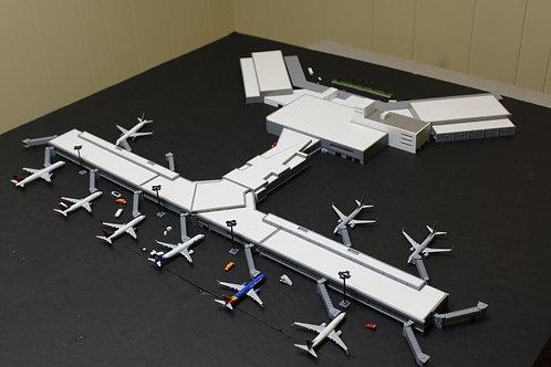 1/400 Scale Dallas Love Field Model Airport Terminal
