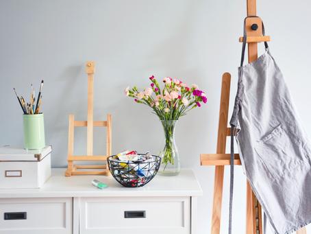 Take a look inside my art studio