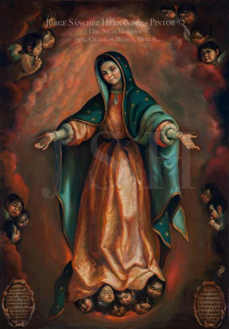 Virgen con los brazos abiertos