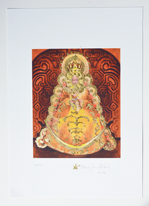 Our Lady of El Rocio fine art print on archival paper with gold leaf details
