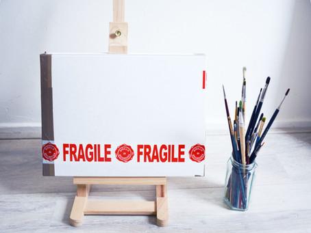 Sending artworks abroad! [packaging paintings]