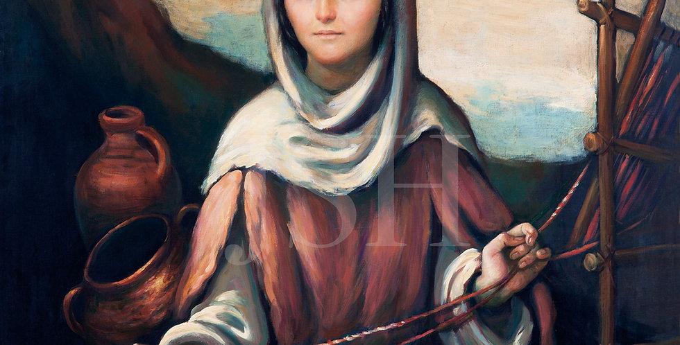 The Virgin on the loom