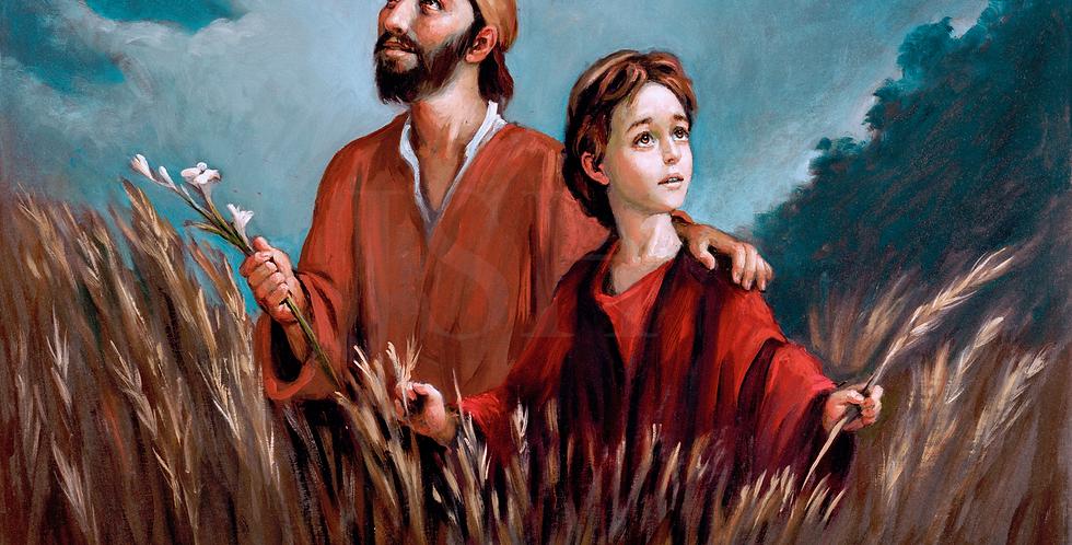 Saint Joseph in the wheat field