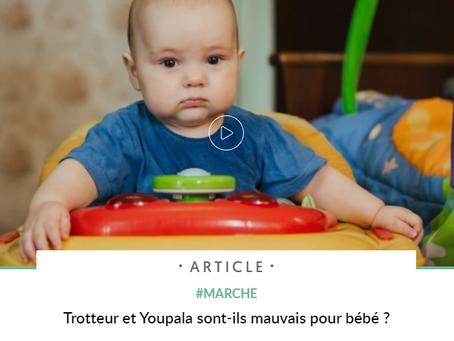 Trotteur et Youpala : sont-ils mauvais pour bébé ?