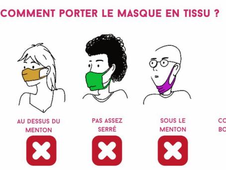 Comment bien porter son masque ?