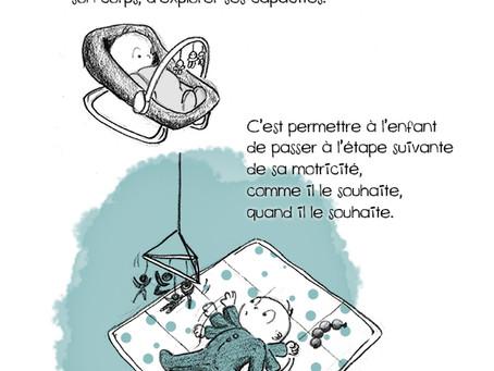 Thème de la semaine : la motricité libre chez bébé !