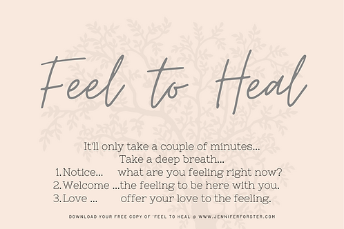 Feel to Heal A4 PDF Poster
