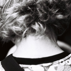 And the back of her neck