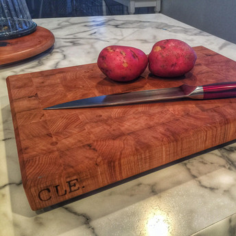 End Grain Cherry Cleveland Cutting Board