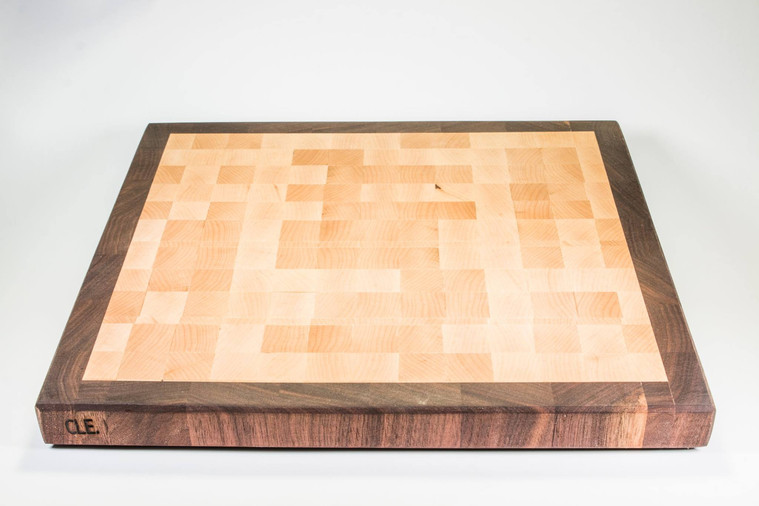 Walnut Maple ENd Grain Cleveland Cutting Board