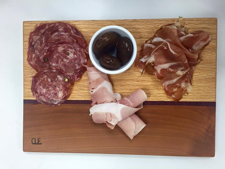 Oak & Cherry Chartucuterie Board by Cleveland Cutting Boards