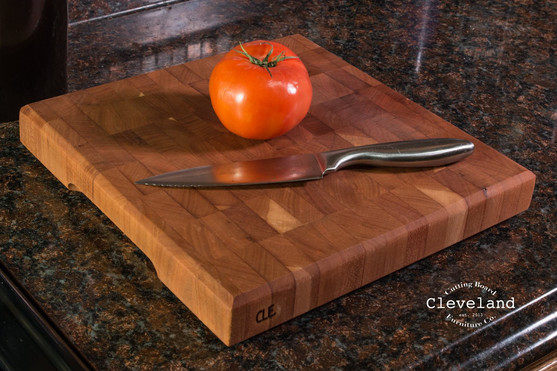 End Grain Cherry Cleveland Cutting Board