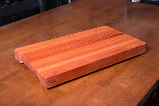 Edge Grain Cherry Cleveland Cutting Board