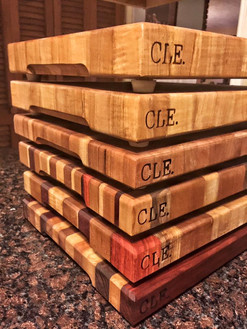 Stack of Cleveland Cutting Boards