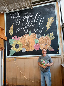 Fall 2020 Chalkboard at Martin's Home &