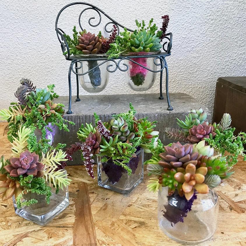 第2弾 プランツギャザリング「 多肉植物の  Mini - ルーティブーケ 」