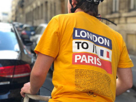 From London to Paris. Two tyred and wheely challenging.