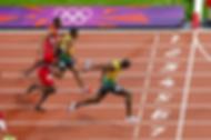 Men running on a track