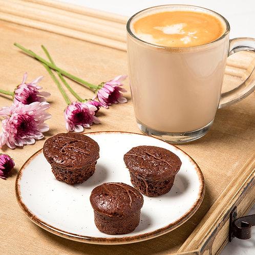 מאפינס שוקולד מריר מקמח כוסמין - 4 אריזות של 4 בראוניז