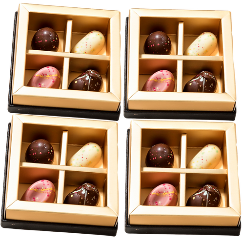 4X4 - ארבעה מארזי פרלינים אישיים שלי ארבעה פרלינים בכל קופסא