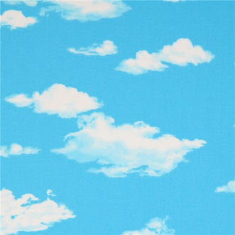 blue-with-white-cloud-poplin-fabric-by-C