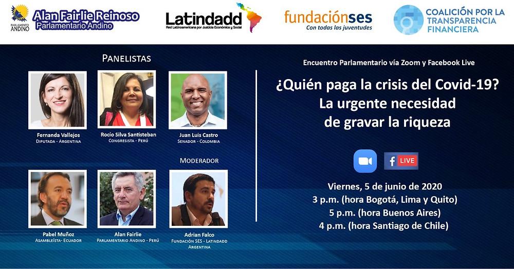 V Encuentro con Congresistas de América Latina y El Caribe por Justicia Fiscal - Sesiones virtuales 2020